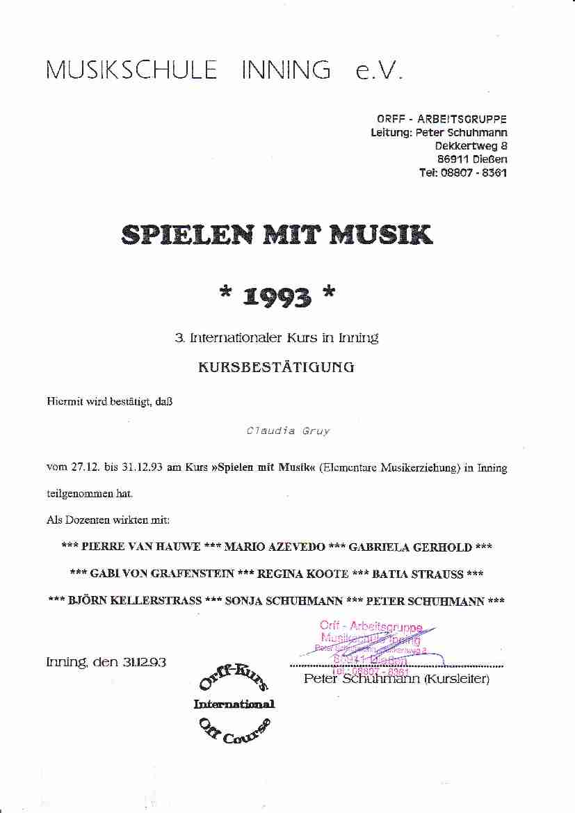 Early Music 1993